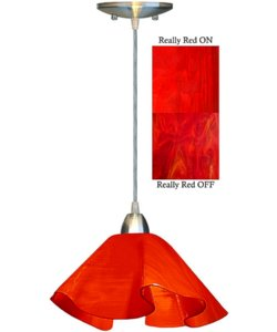Jezebel Radiance 1-Light Lily Pendant Really Red JRNILP16RER